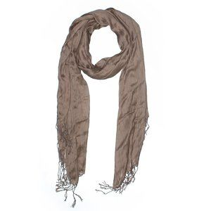 [a3-1] | sandy forest brown fringe scarf |